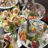『姿造り+選べる鍋+揚焼 コース』飲み放題90分付 5,000円