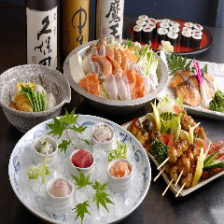 【GO TO EATポイント/商品券使える♪】『朝〆造5種盛+選べる鍋+揚焼コース』飲み放題90分4,500円