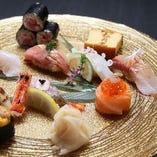 【和の心】 シャリとネタの絶妙なバランスが美味な握り寿司