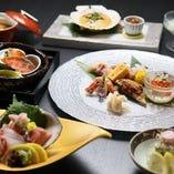 【旬を味わう】 季節の移ろいをコース料理でご堪能いただけます