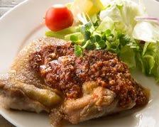 チキンソテー/トマトガーリックソース   Chicken saute tomato & garlic souse