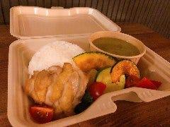 鶏と野菜のグリーンカレー