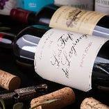 当店ではワインもご用意しております。お肉にあわせたワインをお選びいたしますので、お肉とのマリアージュをお楽しみください。