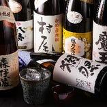 山口県旭酒造の獺祭や森伊蔵・魔王など通が好むお酒もございます