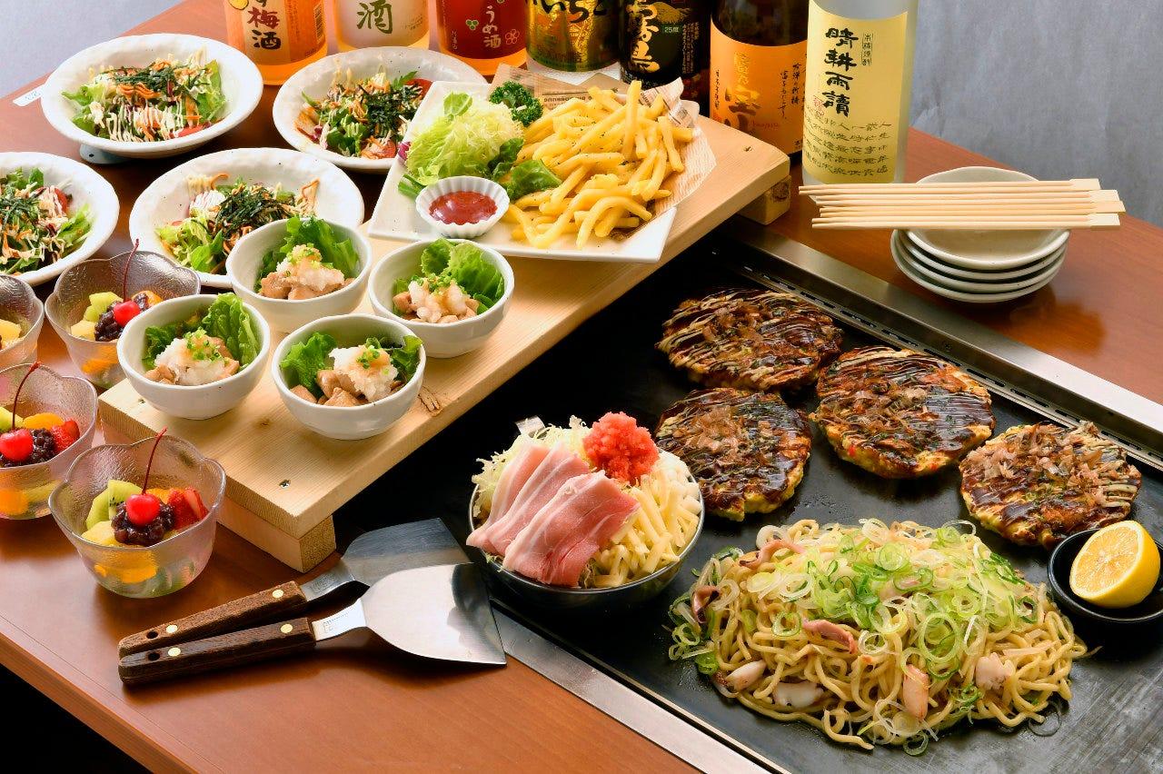 鉄板料理も食べられるお得なコース♪7品2,273円~大宴会にどうぞ