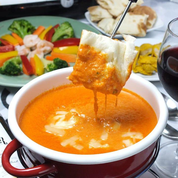 【2時間飲み放題付】とろ~りチーズが堪らない!チーズカレーフォンデュコース〈全6品〉