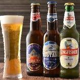 【豊富なドリンク】 インドのビール・ワインにネパールのラム