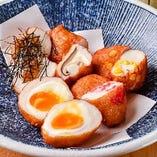 【肴揚げ】 志岐蒲鉾さんのすり身に変わり種を入れた天ぷら