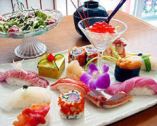 おまかせ寿司(サラダ・お椀付き)3500円