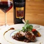 ラム肉のソテーは赤ワインが相性抜群