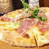 本場の味、生ハムとルーコラのPizza