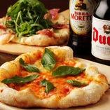 本場仕込みのPizzaはワインにもビールにも◎