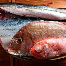 毎日仕入れる新鮮魚介