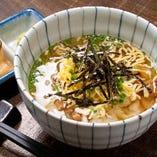 スープで食べる鶏茶漬け