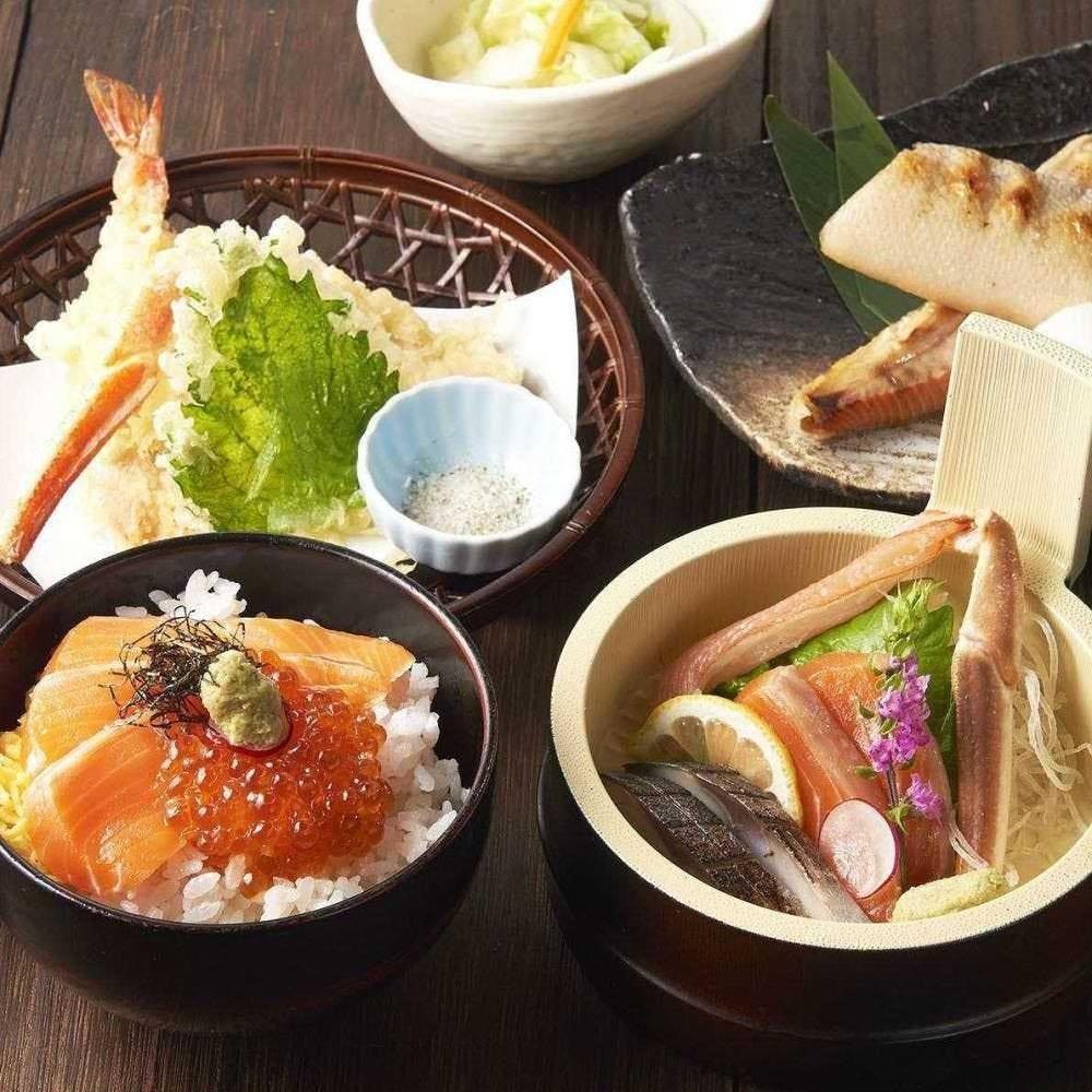 ネット予約限定ランチ 北海道の特選素材+デザート「オホーツク御膳」          2,950円→2,500