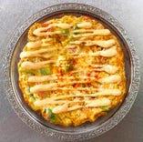 アボカドと鶏肉の玉子焼き