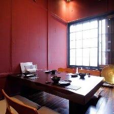 和×モダンの寛ぎの個室空間