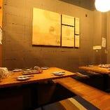 【店内のご紹介】 個室感覚で使えるテーブル席
