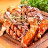 3種の肉盛りプレート