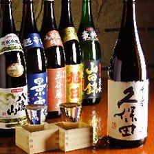 飲み放題は各種銘柄日本酒・焼酎も