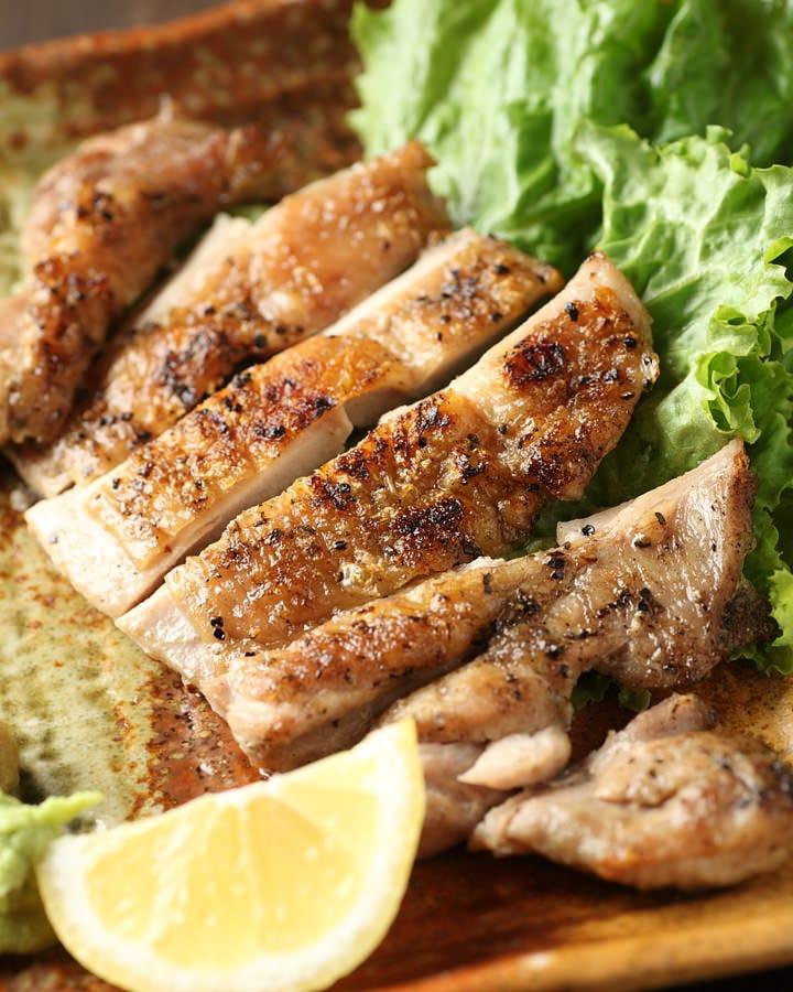 若鶏もも肉のジューシー炙り焼き 柔らかくて美味しい。