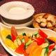 大人気!チーズフォンデュ 温野菜&バケットと・・・♪