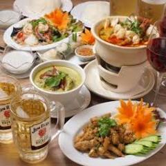 人気の本格アジアン料理コース多数♪
