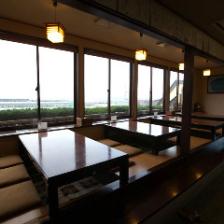 日本海を臨む海沿いのお店