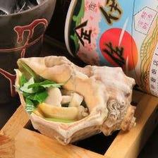 神戸の大貝を使用したつぼ焼は、貝の味がたっぷりとしみ込んだ旨みたっぷりのダシでどうぞ☆神戸のつぼ焼