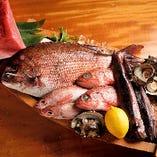 伊勢湾近海で獲れた直送鮮魚を毎日入荷しております。