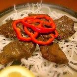 鯨肉インド焼