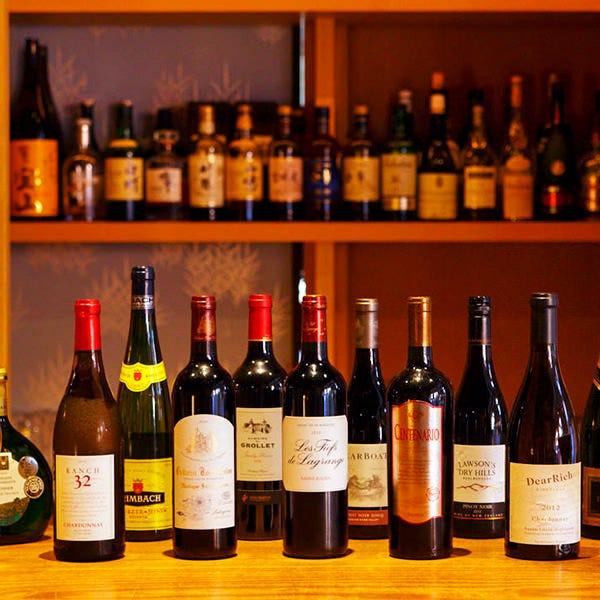 ◆お料理に合うワインが豊富