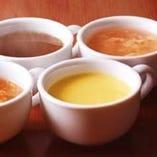 スープバーは3種類!! いろいろ試してみてください♪
