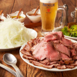 肉ラバー必見!ローストビーフ&ポーク食べ放題プランが新登場!