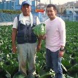 オーナー自ら生産者様のもとを出向き良質な野菜を厳選