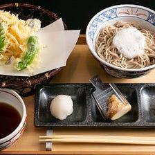<お昼限定>天ぷら6種と当店オリジナル蕎麦【昆布水天ぷら浸け蕎麦】