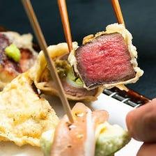 素材の美味しさ活かした創作天ぷら