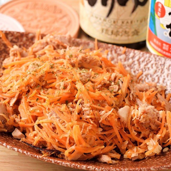 沖縄の郷土料理「人参しりしり」和風だしの効いた優しいお味♪