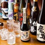 九州地方の銘柄焼酎や日本酒、多数あり!