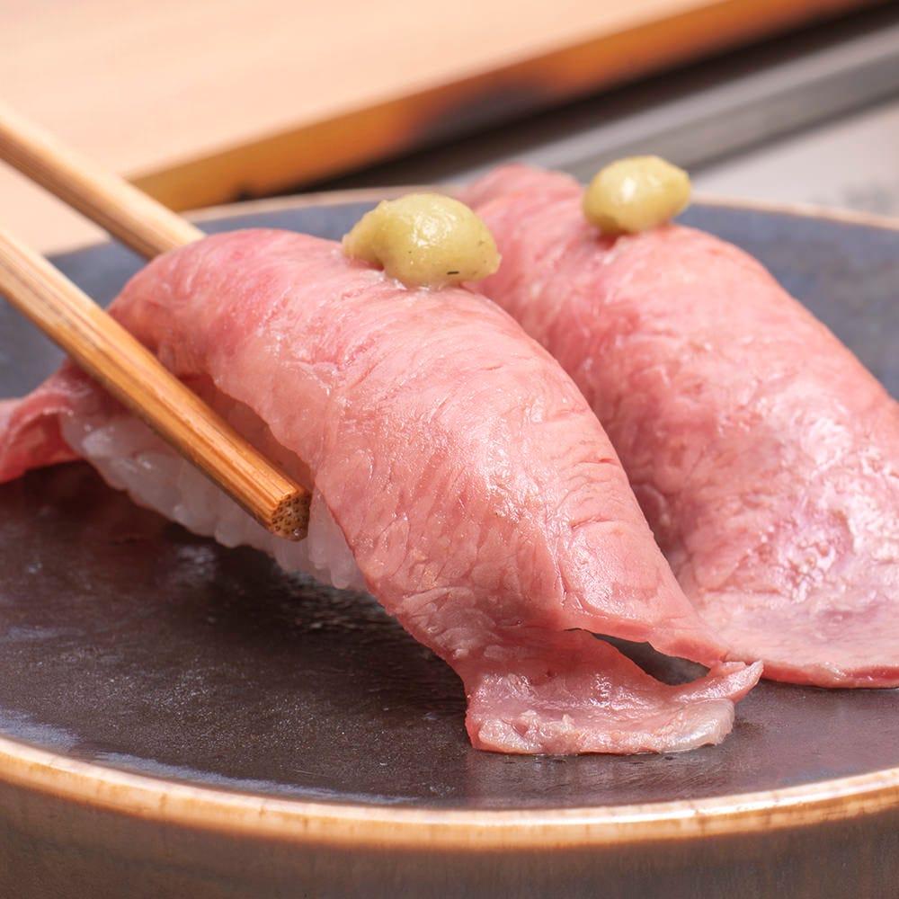 おすすめの一品。特選あぶり寿司