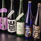 【ドリンク】 地酒の取り揃えは約30種!ビールやワインも◎