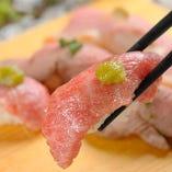 肉寿司は食べ放題でお楽しみいただけます。