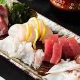 お造りやお寿司など美味しい魚料理を存分にお召し上がりください
