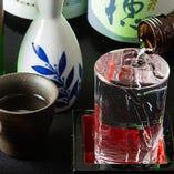 厳選した日本酒や焼酎など季節限定酒もお楽しみいただけます