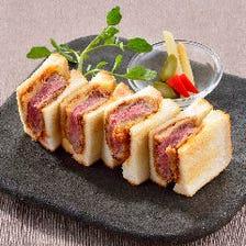 ビーフヘレカツの洋食サンド
