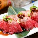 炙り握り寿司一人前3貫別料金で2貫まで追加できます。