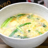 玉子スープ寸胴でじっくりと煮込んだスープは、深い味わいがあり〆に最適です。