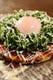「とろ卵豚ネギ焼き」とろとろの温泉玉子がネギと絡まって絶品!
