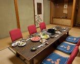 結納・顔合わせに最適な6名様個室。