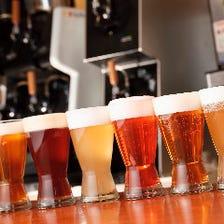 豊富な肉料理に◎6種類の厳選ビール